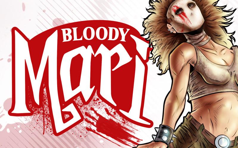 Bloodi Mari Comic Logo