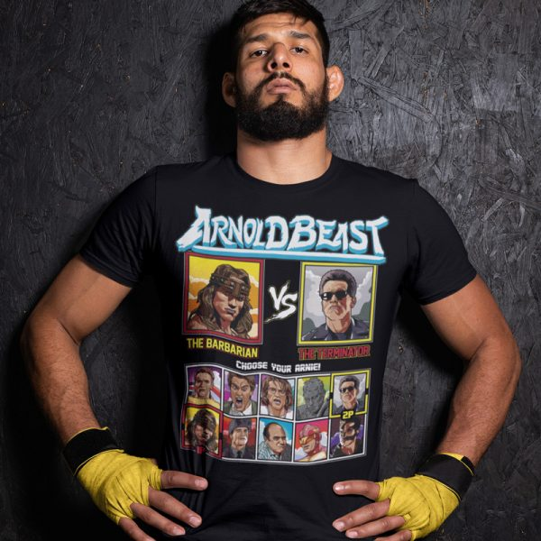 arnold beast barbarian terminator fighting series t-shirt