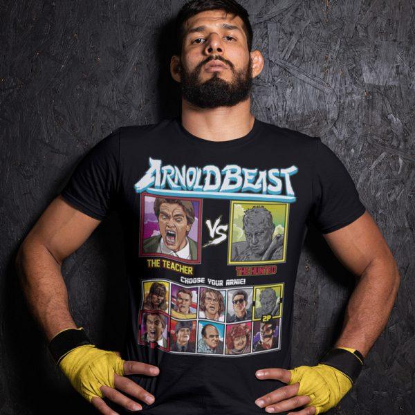 arnold beast teacher hunted fighting series t-shirt