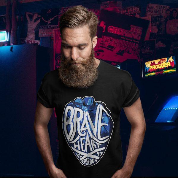 braveheart black t-shirt