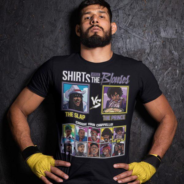 shirts vs blouses slap prince fighting series t-shirt
