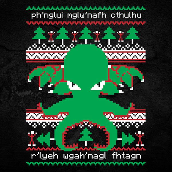 Cthulhu Cultist Christmas - Christmas Sweater T-Shirt
