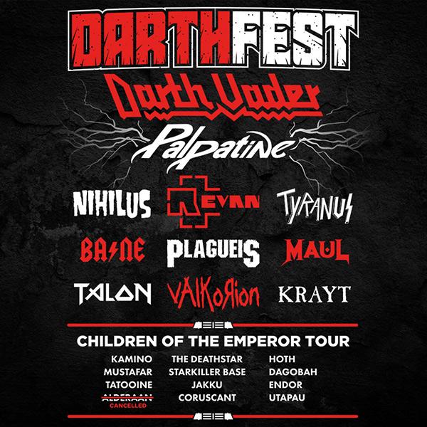 Darth Star Wars Festival Tee Full Back