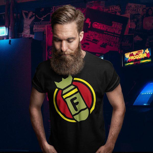 f bomb black t-shirt