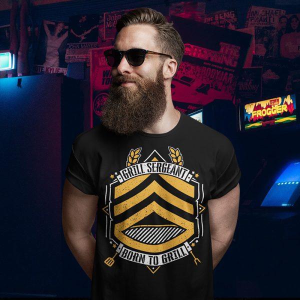 grill sergeant black t-shirt