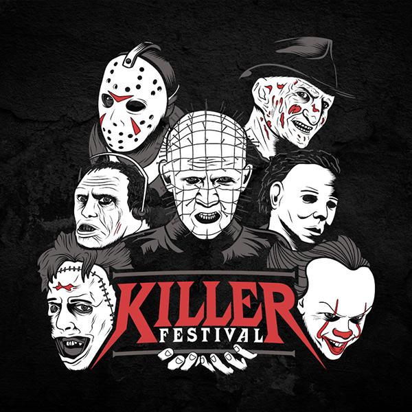 Horror Movie Festival Tee Full Front
