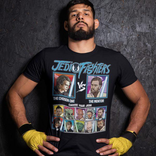 jedi fighter chosen one mentor fighting series t-shirt