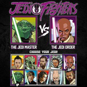Jedi Fighters Windu Yoda T-Shirt