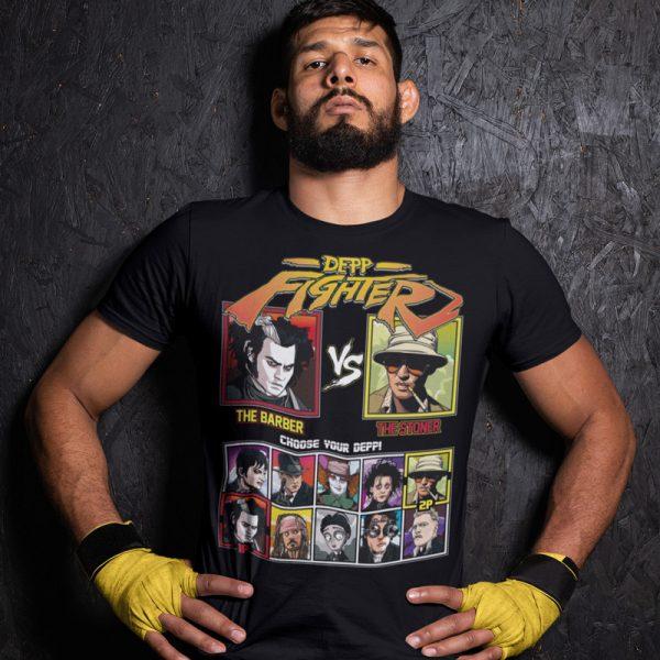 depp fighter barber stoner fighting series t-shirt