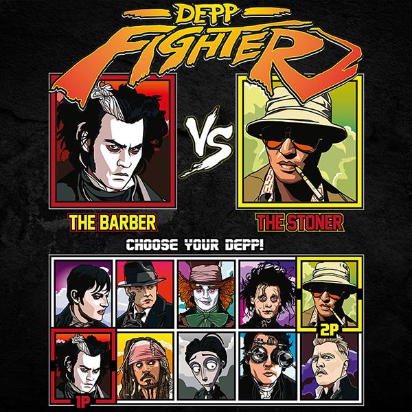 Johnny Depp Barber T-Shirt