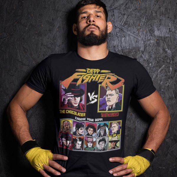 depp fighter chocolatier wizard fighting series t-shirt