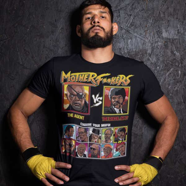 motherf**kers censored agent ezekiel 25:17 fighting series t-shirt