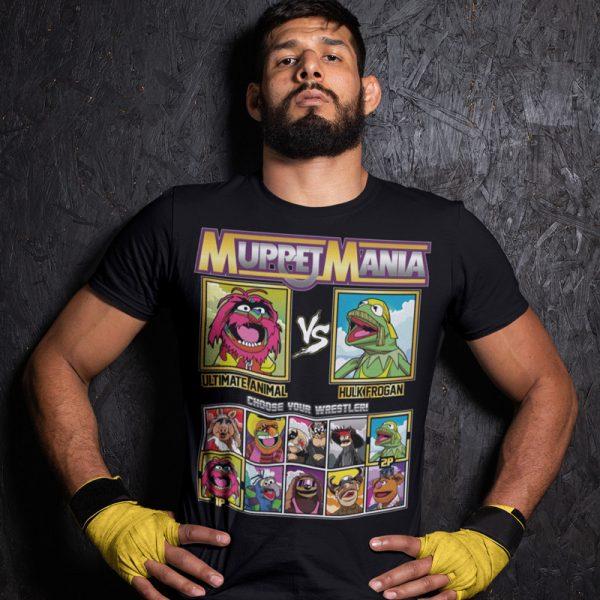 muppetmania animal hulk frogan fighting series t-shirt