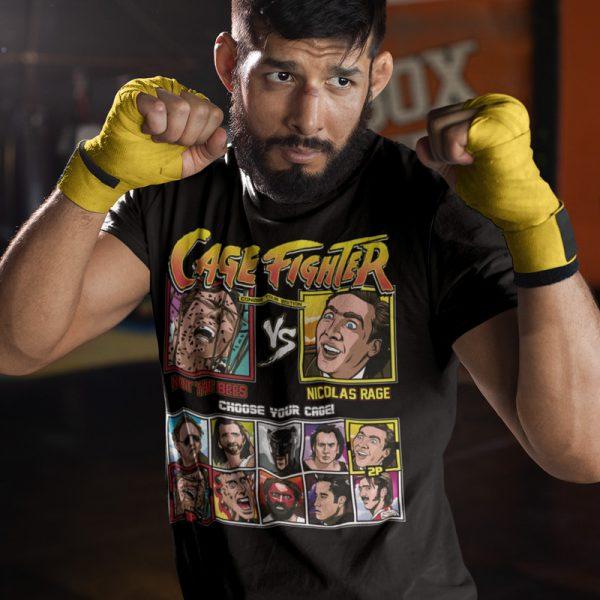 Cage Fighter Bees Nicolas Rage Tee