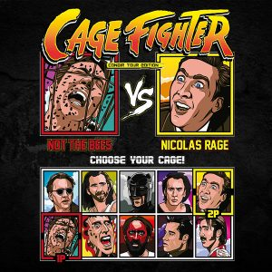 nicolas cage fighter full colour nicolas rage the bees fighting series tee