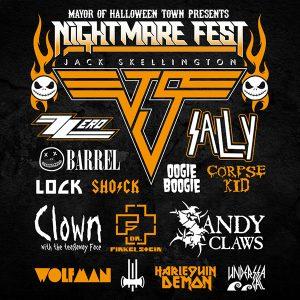 Nightmare Before Christmas Festival Tee Full Back