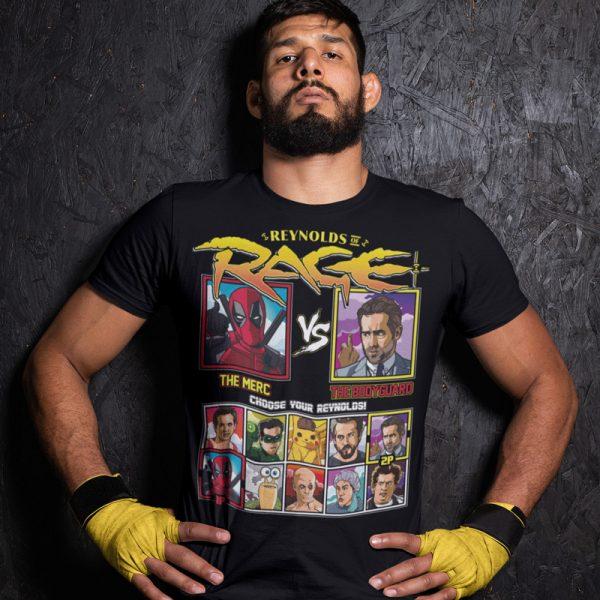 reynolds of rage the merc the bodyguard fighting series t-shirt