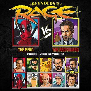 Ryan Reynolds of rage tshirt