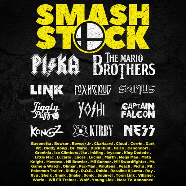 Smash Bros Festival Tee Full Back