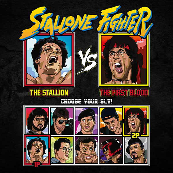 stallone fighter shirt