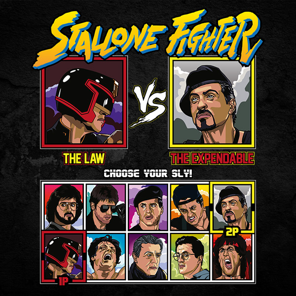 stallone fighter tee