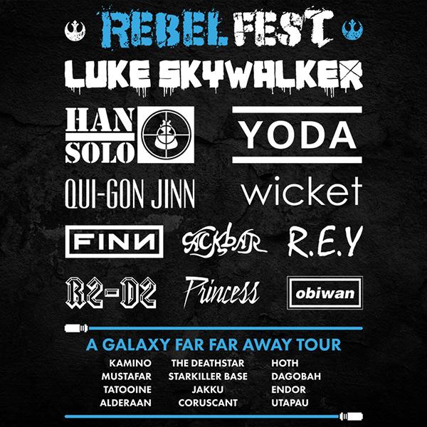STAR WARS Rebel Festival Tee Full Back