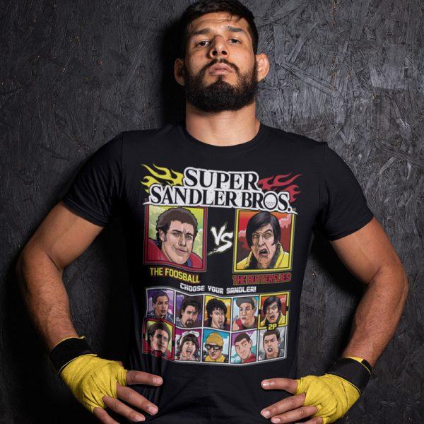 super sandler bros the foosball the butterflies fighting series t-shirt