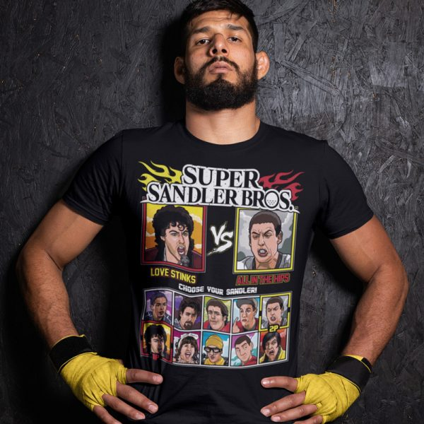 super sandler bros love stink all in the hips fighting series t-shirt