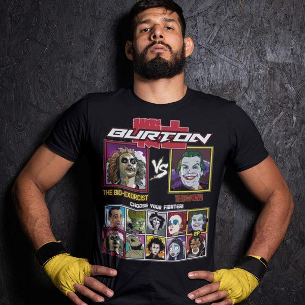 tim burton fighter beetlejuice joker fighting series t-shirt