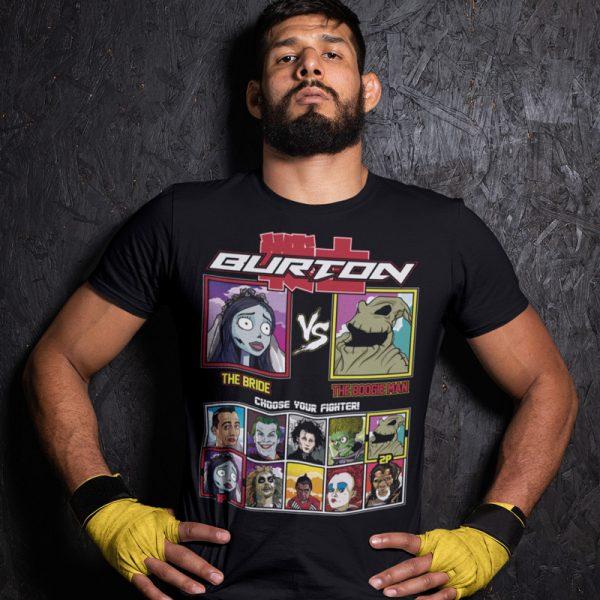 tim burton fighter corpse bride nightmare before Christmas fighting series t-shirt