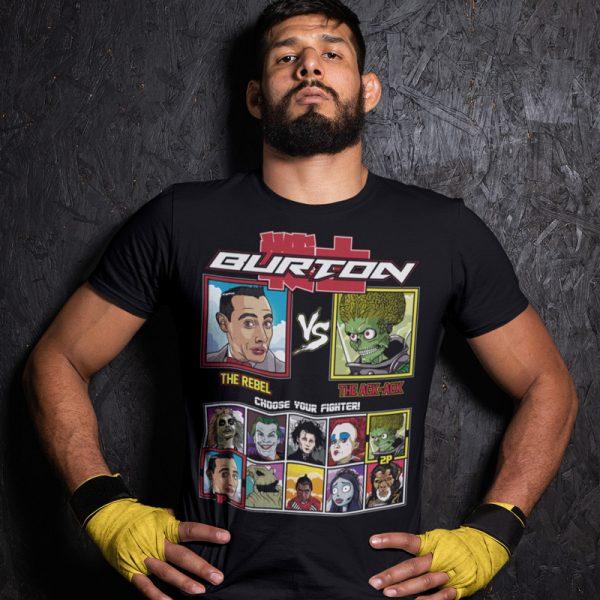 tim burton fighter peewee mars attacks fighting series t-shirt