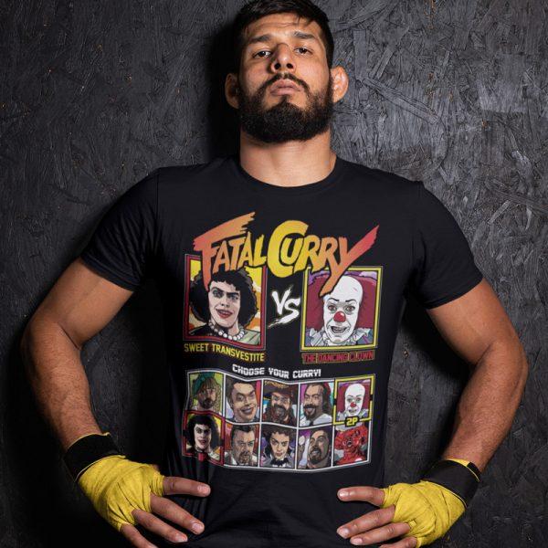 fatal curry rock horror IT clown fighting series t-shirt