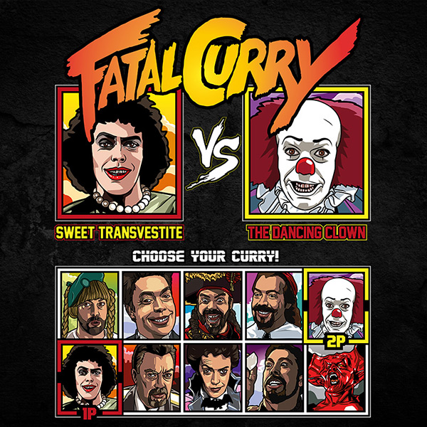 fatal curry rocky horror IT fighter tee