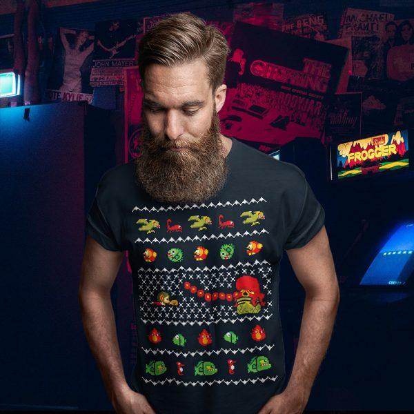 alex kidd master system christmas sweater tee