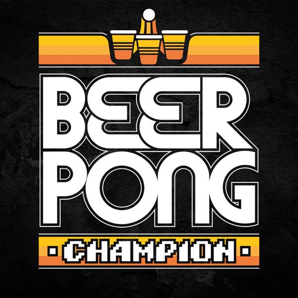 Beer Pong Champion T-Shirt ATARI