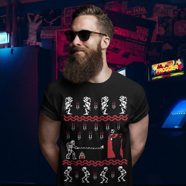 Castlevania NES Christmas Sweater T-Shirt