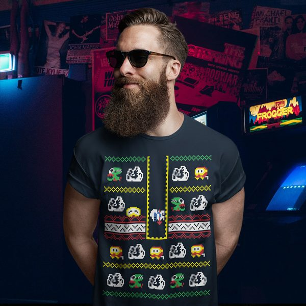 Dig Dug Arcade Christmas Sweater T-Shirt