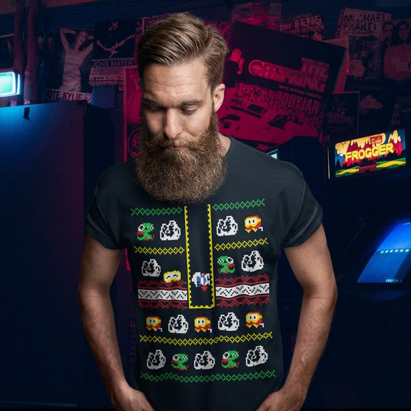 Dig Dug Arcade Christmas Sweater Tee