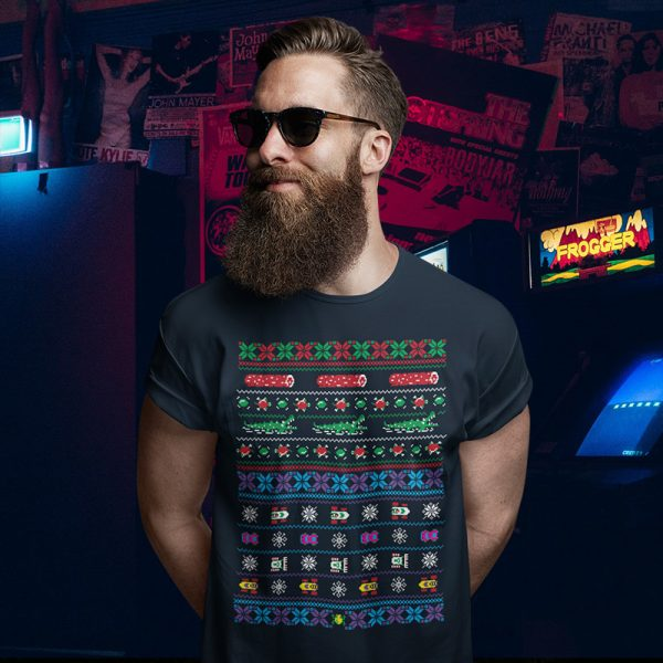 Frogger Ugly Christmas Sweater T-Shirt