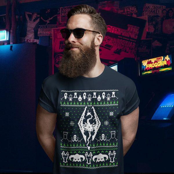Skyrim Ugly Christmas Sweater T-Shirt
