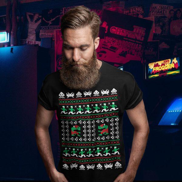 Games Atari Christmas Sweater Tee