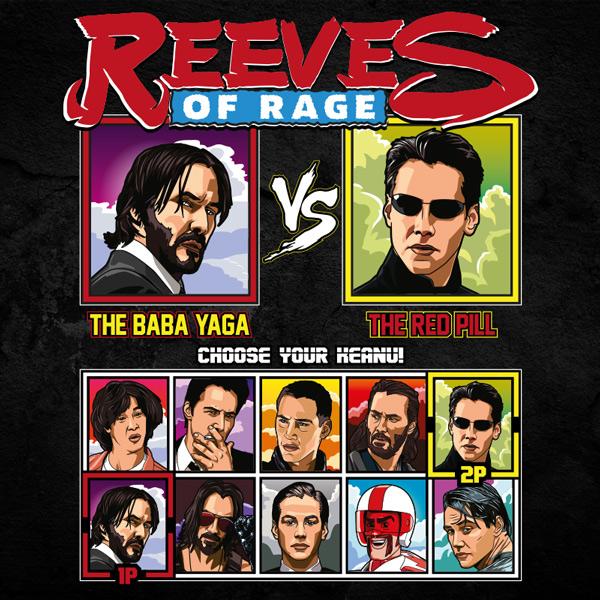 Keanu Reeves of Rage - John Wick vs Matrix T-Shirt