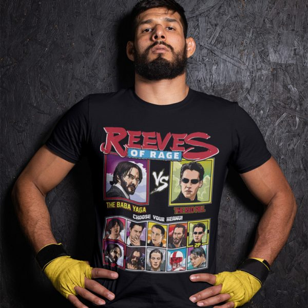 Keanu Reeves Tee Shirt John Wick vs Neo