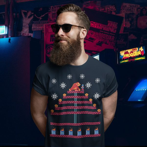 Kongmas Tree Donkey Kong Ugly Christmas Sweater T-Shirt