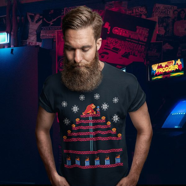 Kongmas Tree Donkey Kong Ugly Christmas Sweater Tee