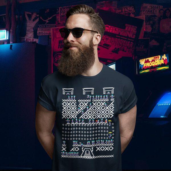 Lemmings Ugly Christmas Sweater T-Shirt