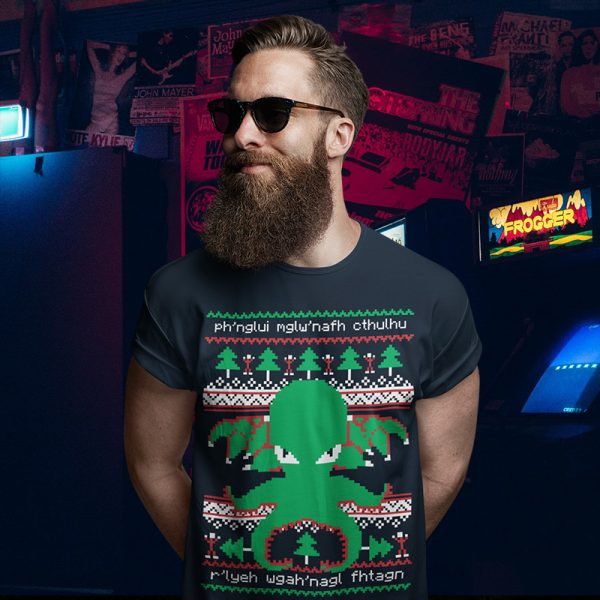 HP Lovecraft Cthulhu Ugly Christmas Sweater T-Shirt