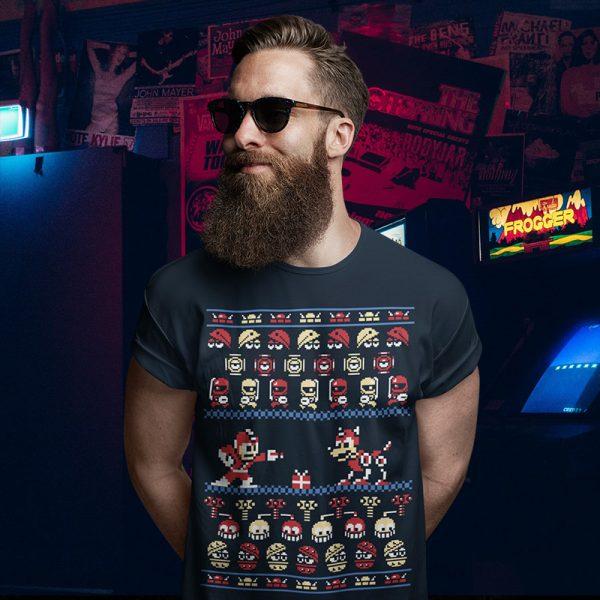 Megaman Ugly Christmas Sweater T-Shirt