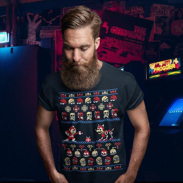 Megaman Ugly Christmas Sweater Tee