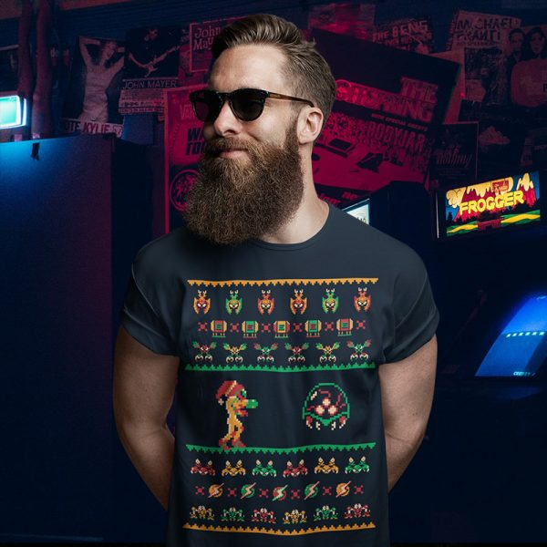 Metroid Ugly Christmas Sweater T-Shirt